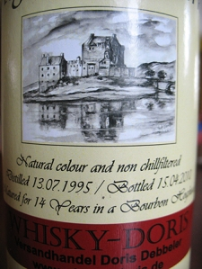 highland park 14 1995 whisky doris