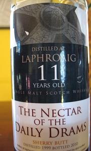 Laphroaig 11 1999 Label