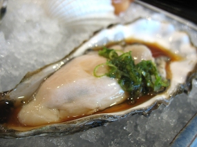And a wonderfully meaty and briny Hama Hama oyster in yuzu-ponzu sauce. This may be the single best oyster I have ever had.