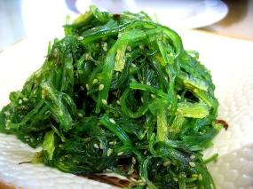 Cold seaweed salad. Very nice.