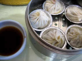 Shanghai soup dumplings--these were particularly good, and in our view, far superior to any we've had at Sea Harbour.