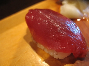Then the fish. First up, blue fin tuna.
