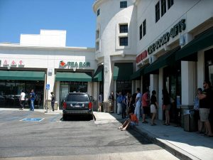 Line outside outlet #1
