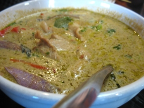 Green Curry with Pork: Textbook green curry.