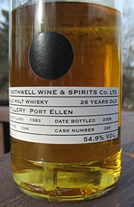 Old Bothwell, Port Ellen, Cask 220