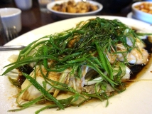 Steamed Fish with Ginger and Scallions: An off-menu dish recommended for our boys and it's always great.