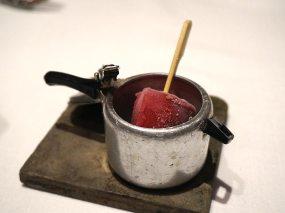 pomegranate & churan kulfi sorbet