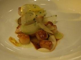 Bay Scallops – Sunchokes, Green Apple, Hazelnut, Brown Butter, Celery