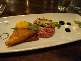 Tartare – Beef, Egg Yolk, Mushroom, Black Truffle, Parmesan Milk