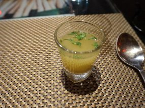 This was a very nice sour drink to start, made with aamlokhi or amla (a type of gooseberry, I think)