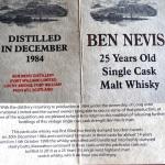 "Ben Nevis 25 ""Single Cask"""