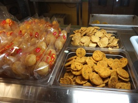 Gol-gappas sealed to give the impression of superior hygiene, and some paadis.