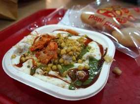 I got the mixed chaat--not bad.