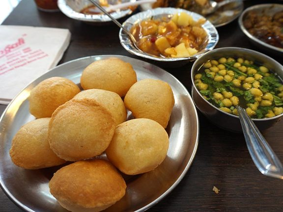 We ate rather a lot: gol-gappas.