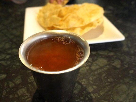 We started with some rasam. Tangy and spicy, this was just great. My stomach just rumbled thinking about it.
