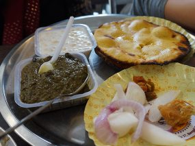 Makki ki Roti and Sarson ka Saag (corn rotis with mustard greens)