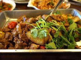 Grand Szechuan: Chengdu Lamb. Also not on the menu. Cuminy and very good.
