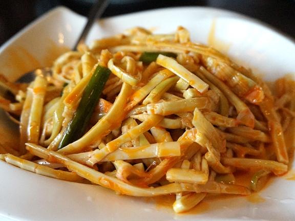 Little Szechuan: Bamboo Tips in Chilli Sauce