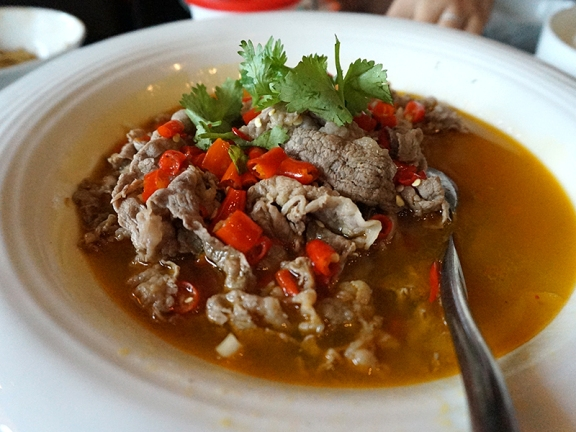 Little Szechuan: Beef Slices in Spicy, Sour Broth
