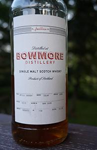 Bowmore 16, 1996, Faultline