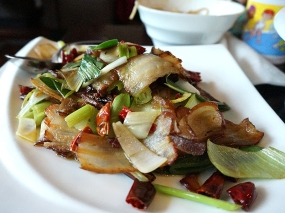 Little Szechuan: Twice Cooked Cured Pork Belly