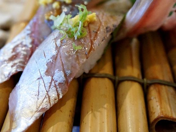 Kiyokawa: Aji with Scallions and Fresh Ginger
