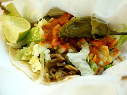 we got a buche (hogmaw) taco
