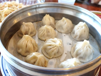 Steamed Buns---these pork dumplings were just okay.