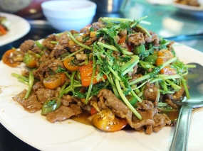 Hunan Mao: Toss Fried Mutton with Cilantro