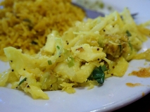 This cabbage poriyal was the one thing I ate that I could be convinced to say was better than average. However, for some reason it was billed on the buffet as lemon rice. There was no actual lemon rice anywhere in the buffet.