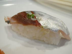 But I made the mistake of getting a piece of this aji. Dry and chewy to the point of being gristly it brought the meal to an end in keeping with the deep lows of the beginning.