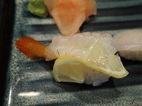 The sweet shrimp was similarly characterless.