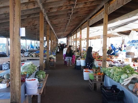The main outdoor farmers' market area.