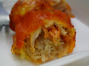 (the interior of said stuffed chicken wing)