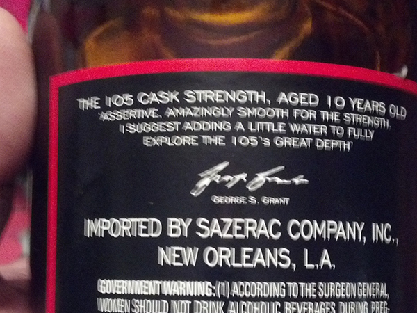 105 Back Label