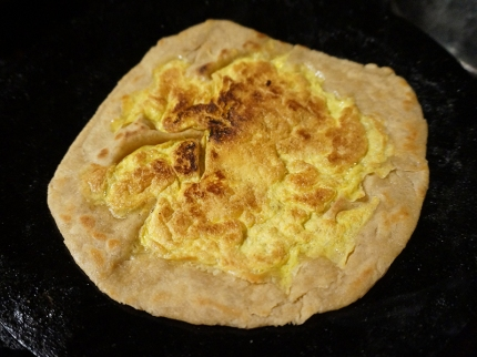Here is a plain egg paratha---my boys don't like anything else in the egg mixture.