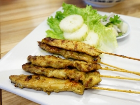 Bangkok Thai Deli: Chicken Satay