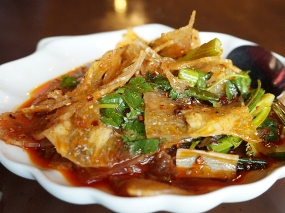 """From the """"Appetizers"""" section this ma la beef tendon is just dynamite."""