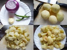Some cut the potato even smaller.
