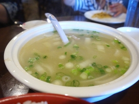 We don't always get soup here but this used to be our go-to as our boys like the mild broth and the shredded pork.