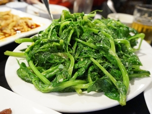 Grand Szechuan: Stir Fried Pea Tips