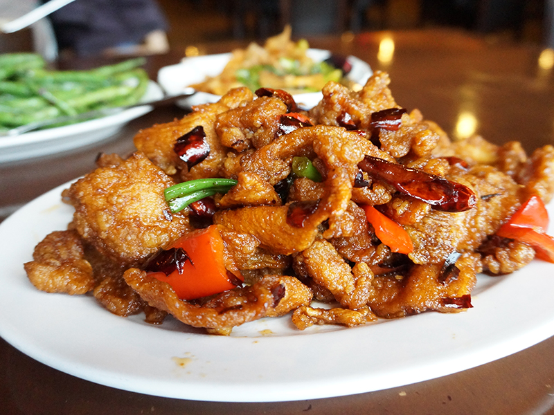More crispy than spicy really and nothing great, but a nice textural contrast if you don't have any other crispy dishes.