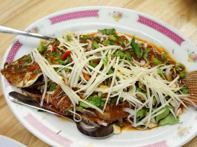 Bangkok Thai Deli: Tilapia w. Fresh Herb Tamarind Sauce