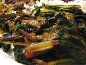 Chard with Kashundi