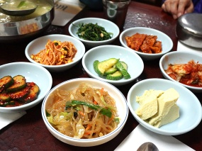 A nice assortment of banchan but nothing special.