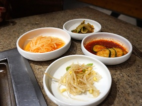 Banchan at Chosun Galbee.