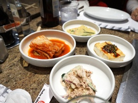 "I said that Chosun Galbee has good banchan but I'm really not sure about the tuna salad in front; it's not that it was bad but it felt ""wrong"" in a way that the usual potato salad doesn't."