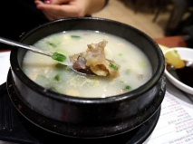 Doganitang: Another kind of beef broth/soup, this one made from kneecaps.