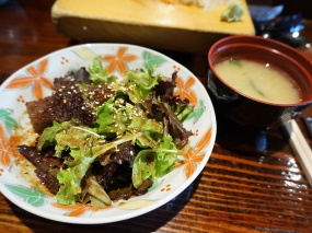 As always the meal started with a very nice miso soup and salad.