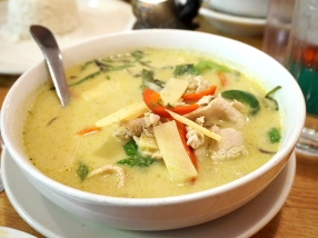 The green curry with pork was fine but nothing special.